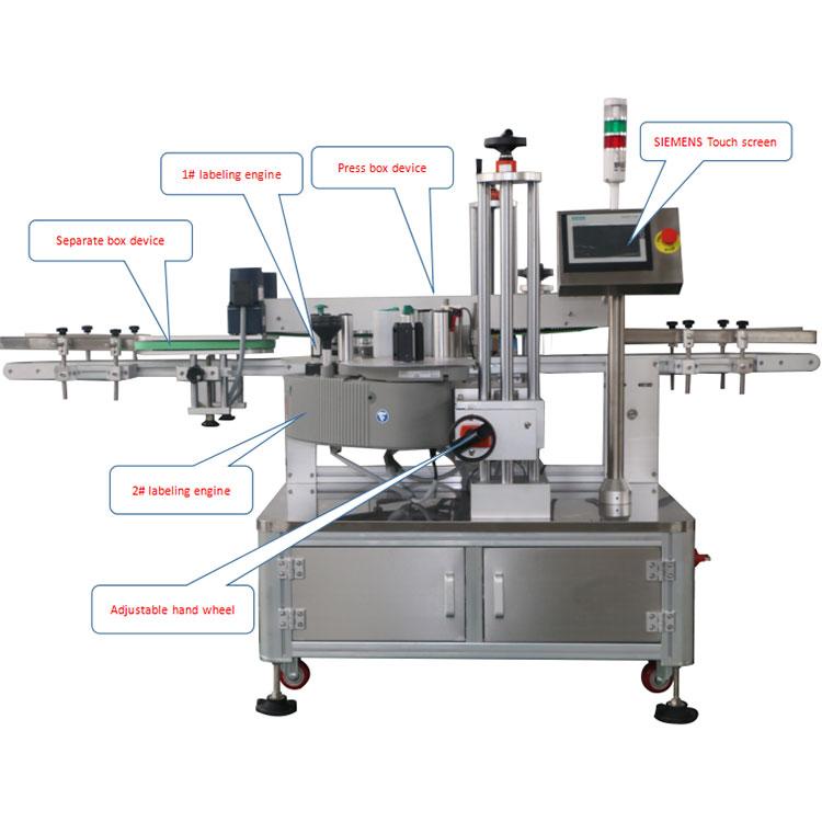 Подробности за автоматичната машина за етикетиране на ъглови картонени кутии