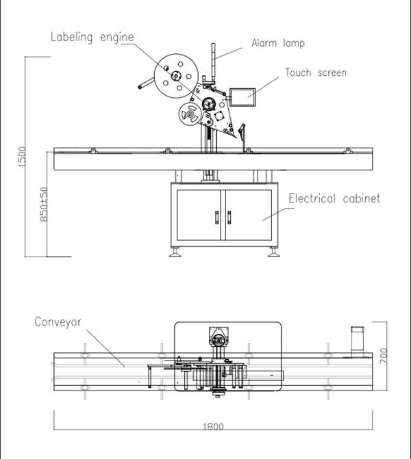 Автоматична машина за самозалепване с плосък плот