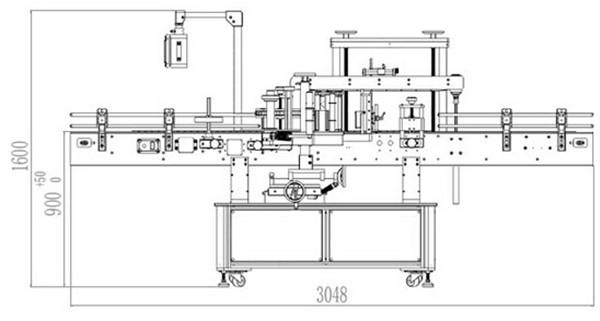 Детайли за автоматична двустранна етикетираща машина отпред и отзад