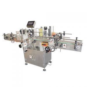 Етикетираща машина за пластмасови кофи от едната страна