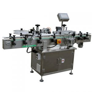 Double Labeling Heads Adhesive Sticker Labeller Applicator