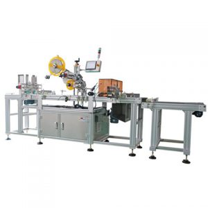 Label Applicator For Cone Glass Alcohol Bottle