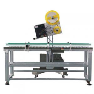 Автоматична машина за етикетиране на плоски картонени чанти