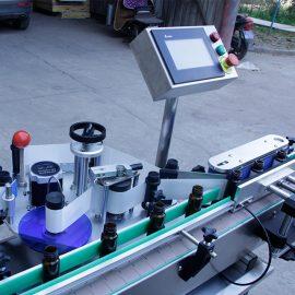 Автоматична вертикална кръгла бутилка стикер етикетиране машина подробности